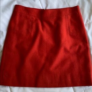 Orange Wool JCrew Mini Skirt